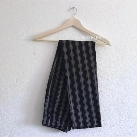 4a70ed5d5ee0 Brandy Melville Pants - Brandy Melville Tatiana black   grey stripe pants